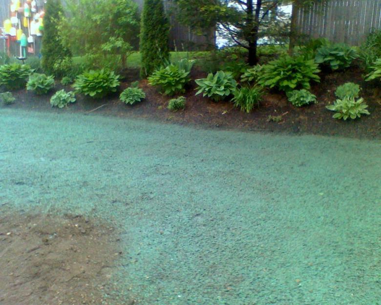 Hydro seeding Aplication, Falmouth, MA