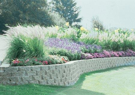 Decorative retaining wall system, Natural stone walls